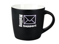 Keramik-Tasse, matt-schwarz